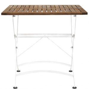 PARKLIFE Skládací stůl 80 x 80 cm - bílá/hnědá