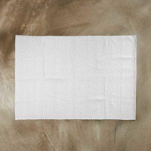 SILENT DANCER Koberec rybí kost 120 x 70 cm - šedá/bílá