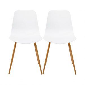 SHELL Židle set 2 ks - bílá