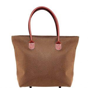 PACK & RIDE Nákupní taška se zipem - hnědá