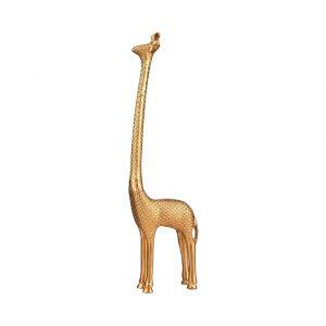 GOLDEN NATURE Dekorační žirafa 19 cm