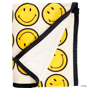 SMILEY Flanelová deka se smajlíkem