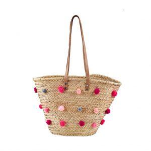 HOLIDAY Plážová taška Pompom