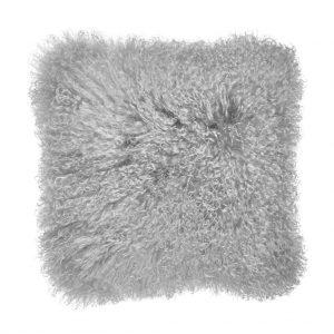 TASHI Polštář z tibetské jehněčí kůže 40 x 40 cm - šedá