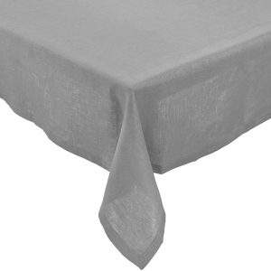 PLAIN & NOBLE Ubrus 150 x 150 cm - šedá