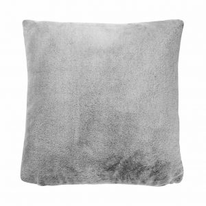 WILD THING Polštář z umělé kožešiny 50 x 50 cm - šedá