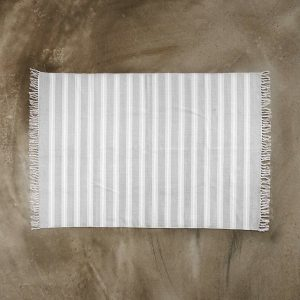 SILENT DANCER Koberec pruhovaný 120 x 170 cm - šedá/bílá