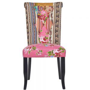 Patchwork židle - růžová