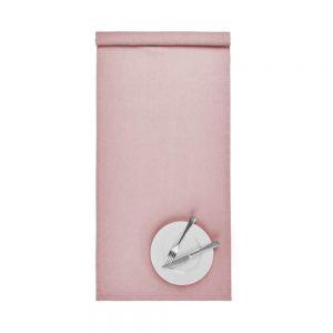 RIGA Běhoun na stůl 50 x 160 cm - sv. růžová