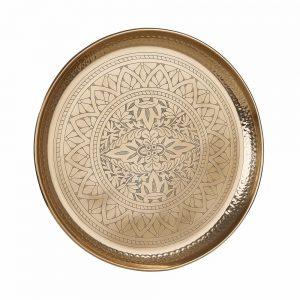 ORIENTAL LOUNGE Dekorační tác 45 cm - zlatá