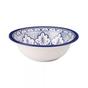 CASBAH Mísa vzorovaná 29 cm - modrá