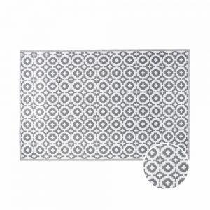 COLOUR CLASH Venkovní koberec mozaika 180 x 120 cm - šedohnědá