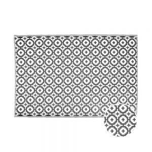 COLOUR CLASH Venkovní koberec mozaika 180 x 120 cm - černá/bílá