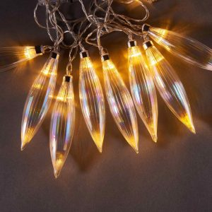 BLUE MOON Světelný řetěz perleťové kapky 10 světel
