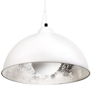 SATELLIGHT Závěsná lampa - bílá/stříbrná