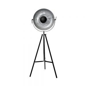 SATELLIGHT Stojací lampa - černá/stříbrná