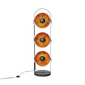 SATELLIGHT Stojací lampa 48 cm - černá/zlatá