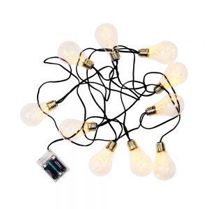 BULB LIGHTS Světelný řetěz žárovky 10 světel - černá