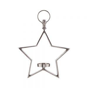 ESTELLE Hvězda k zavěšení se svícnem 31 cm
