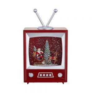 SANTA TV Dekorační televize s osvětlením a hudbou