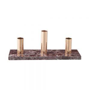 MARBLE Svícen pro 3 svíčky