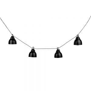 WAREHOUSE Světelný řetěz s kovovými lampičkami do zásuvky