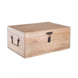 TREASURE ISLAND Dřevěná truhla velikost L