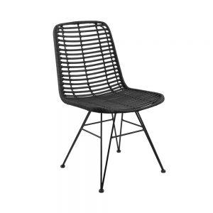 HACIENDA Židle ratanová - černá