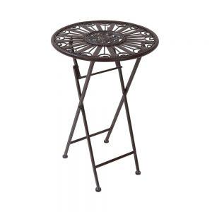 TERRACE HILL Zahradní stolek - tm. hnědá