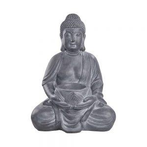 BUDDHA Soška Buddhy se svícnem 68 cm