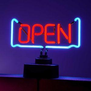 """OPEN Neonová lampa """"Open"""""""