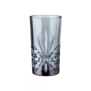 CRYSTAL CLUB Sada sklenic na longdrink 330 ml 4 ks - tm. šedá