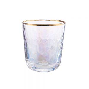 SMERALDA Sada sklenic se zlatým okrajem 280 ml 6 ks