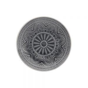 SUMATRA Sada talířů 21 cm 6 ks - šedá