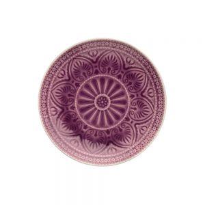 SUMATRA Sada talířů 21 cm 6 ks - fialová