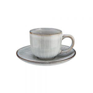 HENLEY Sada hrnků na espresso s podšálkem 90 ml set 4 ks