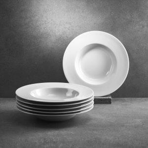 PURO Sada hlubokých talířů na polévku 24 cm 6 ks