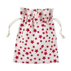 PACK-A-BAG Dárkové sáčky hvězdy 14 x 18 cm set 12 ks - bílá/červená