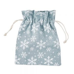 PACK-A-BAG Dárkové sáčky sněhová vločka 14 x 18 cm set 12 ks - pastelově modrá