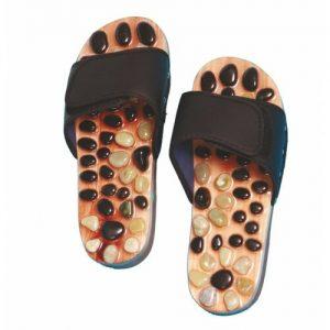 Akupresurní pantofle s přírodními kameny - SJH 314B vel. L