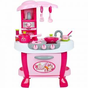 Bayo Velká kuchyňka s dotykovým sensorem + příslušenství Růžová