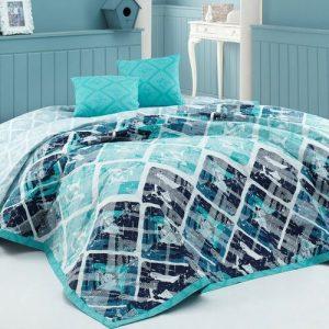BedTex Přehoz na postel Riviéra tyrkysová