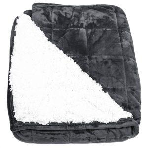 BO-MA Trading Beránková deka Erika černá