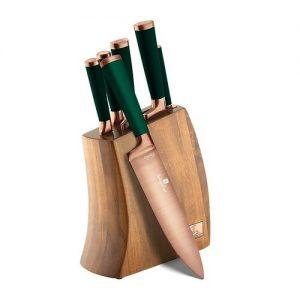 Berlinger Haus 7dílná sada nožů v dřevěném bloku Emerald Collection