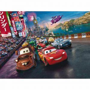 AG Art Dětská fototapeta XXL Blesk McQueen a jeho přátelé 360 x 270 cm