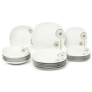 VANESA Jídelní souprava talířů z porcelánu 18dílná