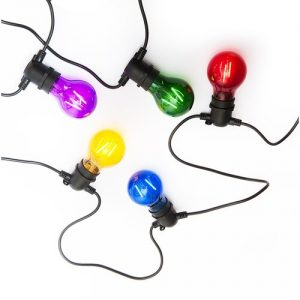 Exihand LO-3455 párty řetěz s 10 barevnými žárovkami