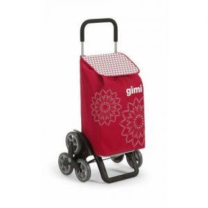Gimi Nákupní taška na kolečkách Tris Floral červená