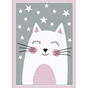 Vopi Kusový dětský koberec Kiddo 0132 pink