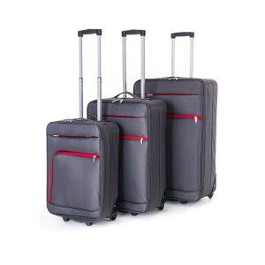 Pretty UP Sada cestovních textilních kufrů TEX01 3 ks